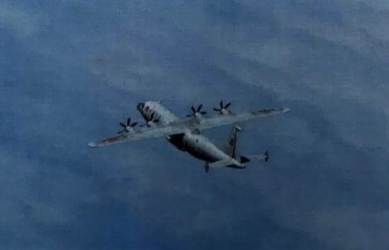 共軍1架運8技術偵察機下午侵犯台灣西南防空識別區(ADIZ)。 圖/國防部