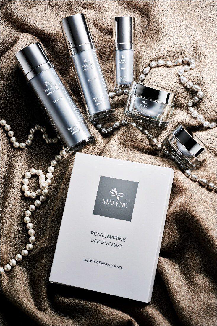 MALENE 「珍珠晶透綻白」系列。 圖/諄宏企業提供