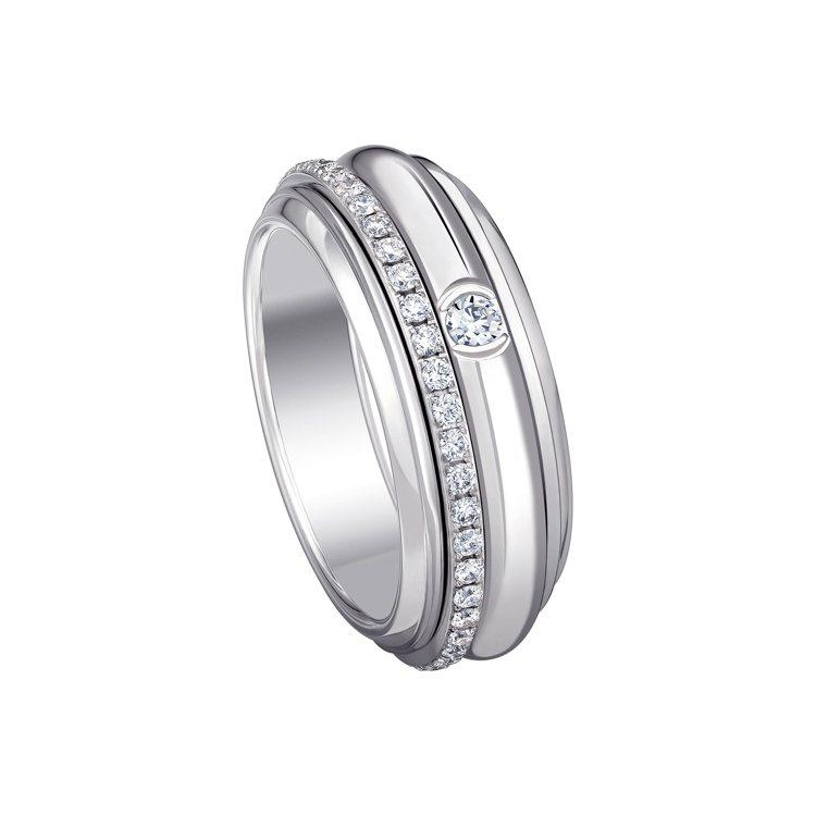 PIAGET Possession系列18K白金鑽石戒指,19萬5,000元。圖...