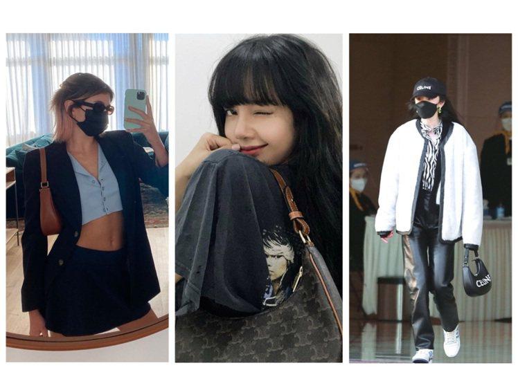 凱亞葛柏、BLACKPINK Lisa和木村光希都詮釋Eva Bag。圖/取自...