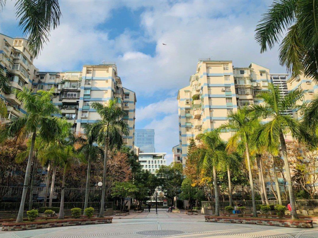 中山區大直美堤花園,成為台北購屋人最有興趣的社區。永慶房屋/提供