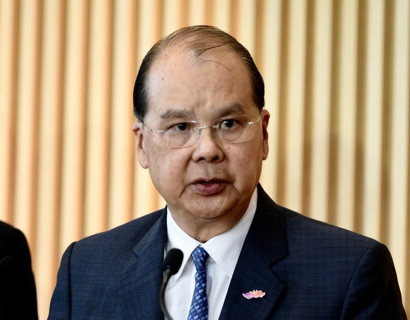香港政務司長張建宗。中通社