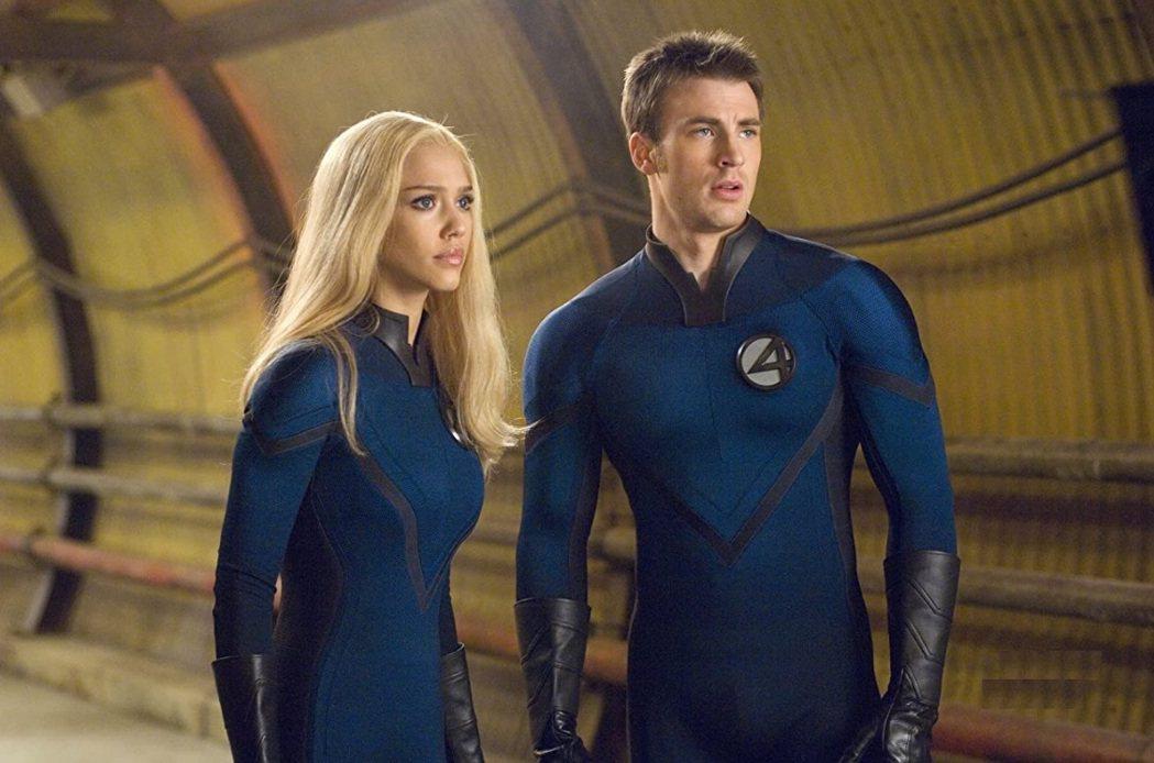 克里斯伊凡(右)與潔西卡艾芭有可能再演「驚奇4超人」中的「霹靂火」和「隱形女」。...