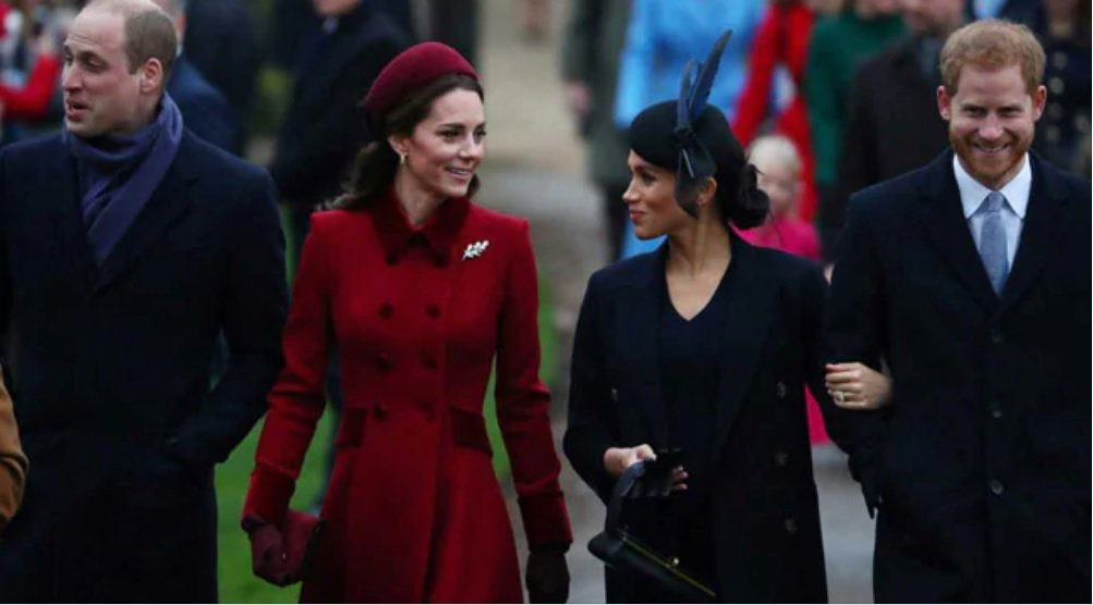 英國皇室期待凱特(左二)與梅根(右二)能成為親密的妯娌、互相幫助,結果事與願違。