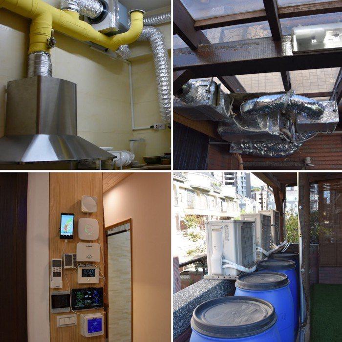 邱繼哲親自動手改造家中環境,打造屬於自己的綠建築。  圖/張許靖惟攝影