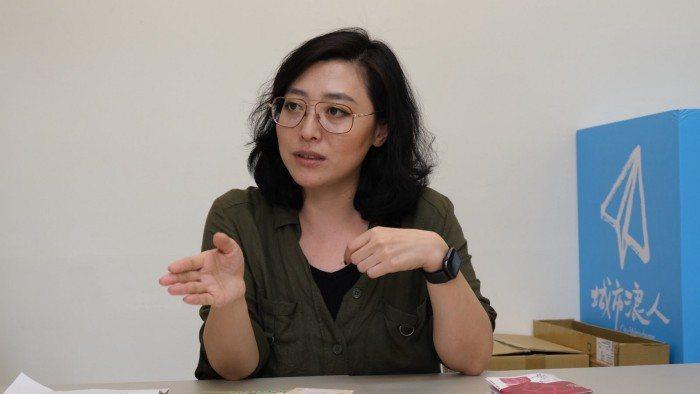 邊邊女力協會秘書長張丹丹。 攝影/呂宗祐