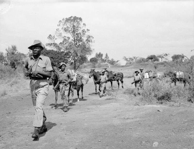 阿敏隨著英國殖民軍團南征北討,是當時鎮壓非洲民族獨立運動的替身打手之一。圖為阿敏...