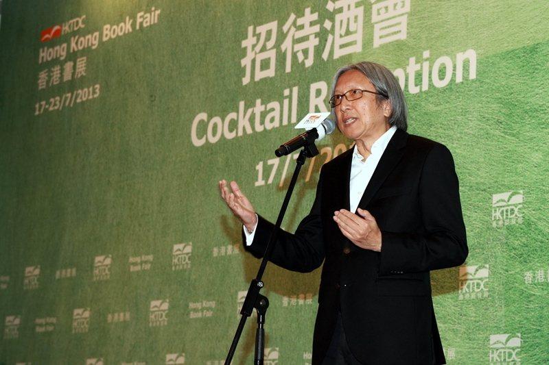 圖為香港知名作家陳冠中,攝於2013年。 圖/新華社