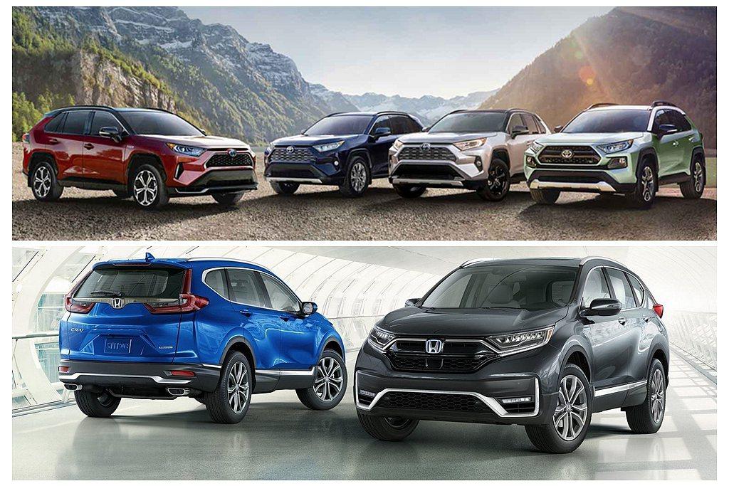 2020年全球休旅銷售排行榜出爐,Toyota RAV4持續穩坐冠軍。 圖/To...