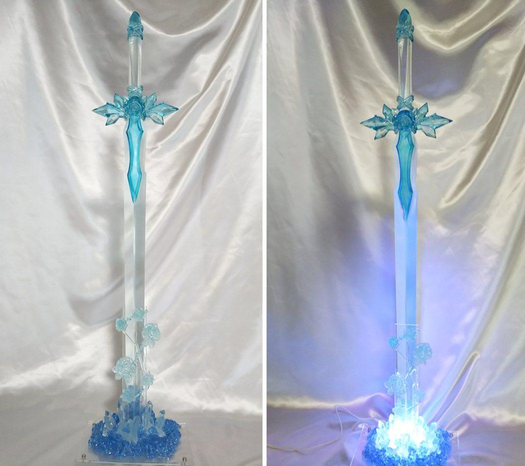 2019年製作的作品,尚未使用特殊塗料。重現嵌在地面的藍薔薇之劍,也設計了燈光效...