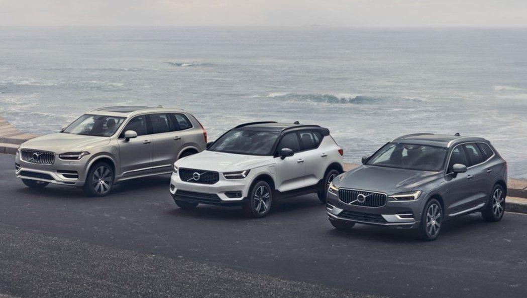 Volvo XC40、XC60、XC90一月份銷量佔比超過品牌總數的七成。 摘自...