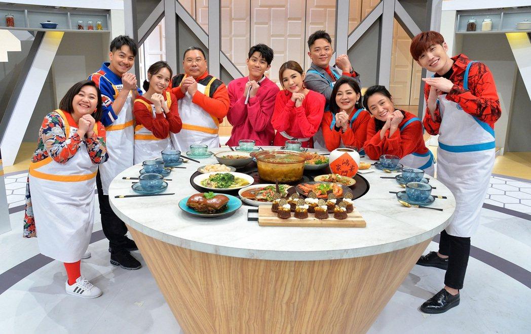 衛視「鴻門家宴」農曆年豪華版特別企劃大合照。圖/衛視提供