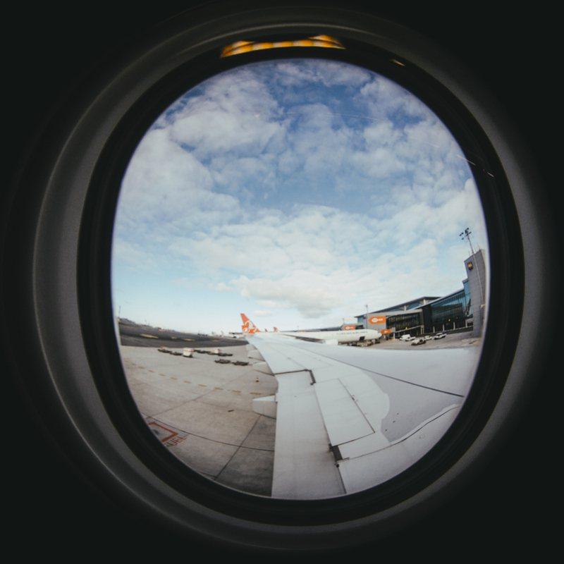 我們決定至伊斯坦堡轉機,抵達倫敦希斯羅機場後,再轉往冰島。 圖/林予晞攝影提供