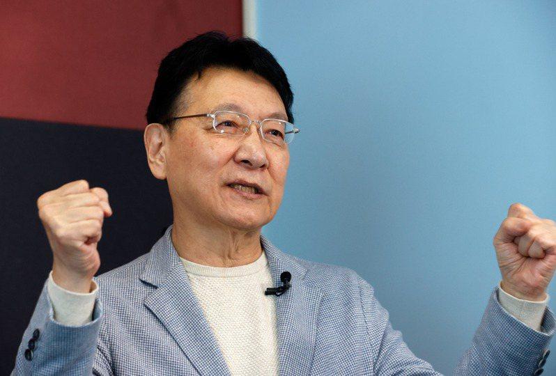 趙少康表示,他覺得此時可以回國民黨,但是當不當上黨主席,並不重要。記者鄭超文/攝影