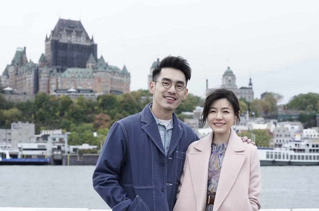 張書豪(左)和陳妍希(右)在片中飾演夫妻。圖/好好看文創/滿滿額娛樂提供