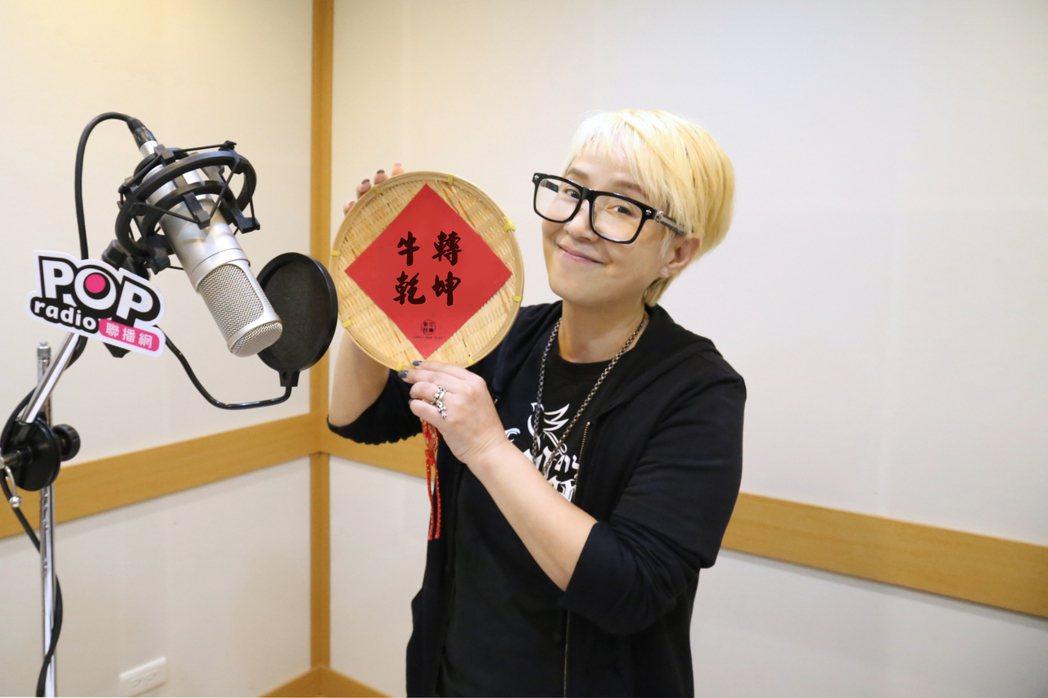 李明依睽違多年再進錄音室。圖/POP Radio提供
