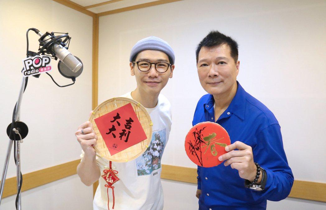 蔡詩萍(右)相當感謝蔡旻佑從旁協助。圖/POP Radio提供