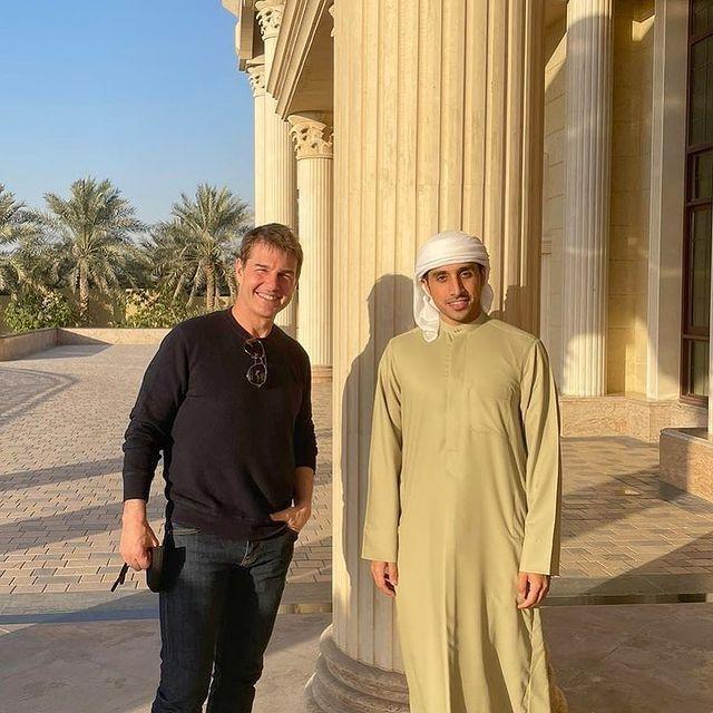 湯姆克魯斯(右)已抵達杜拜,準備為「不可能的任務」新續篇出外景。圖/摘自Inst...