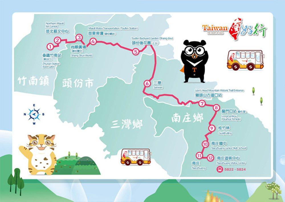 春節連假期間搭乘苗栗客運「台灣好行南庄線」等全台43條路線出遊,使用電子票證享有...