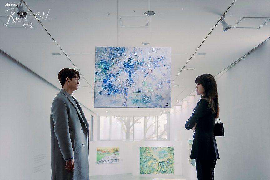 秀英在「Run On」中與姜泰伍談姊弟戀。圖/擷自JTBC官網