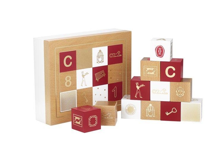 卡地亞Diabolo de Cartier木質積木套裝,約61,000元。圖/卡...