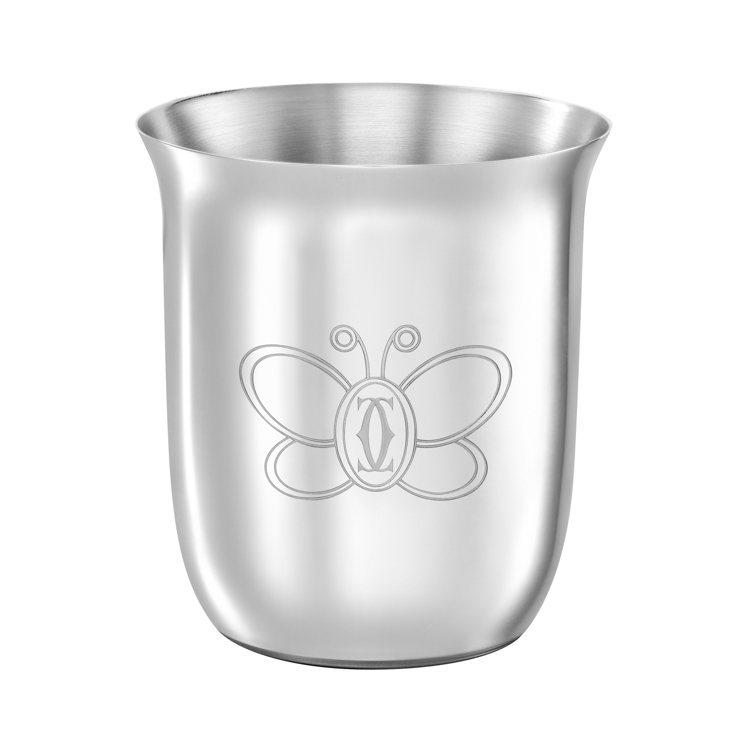 卡地亞Cartier Baby系列蝴蝶純銀水杯,約18,600元。圖/卡地亞提供...