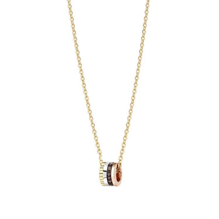 Boucheron,Quatre Classique系列項鍊,白金、黃金和玫瑰金...