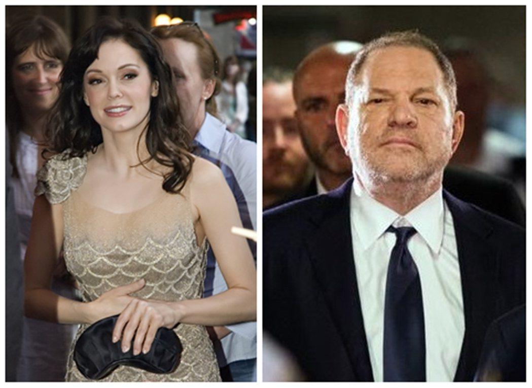 左為羅斯麥高文2007年出席《異星戰場》(Grindhouse)首映會。該片也是...