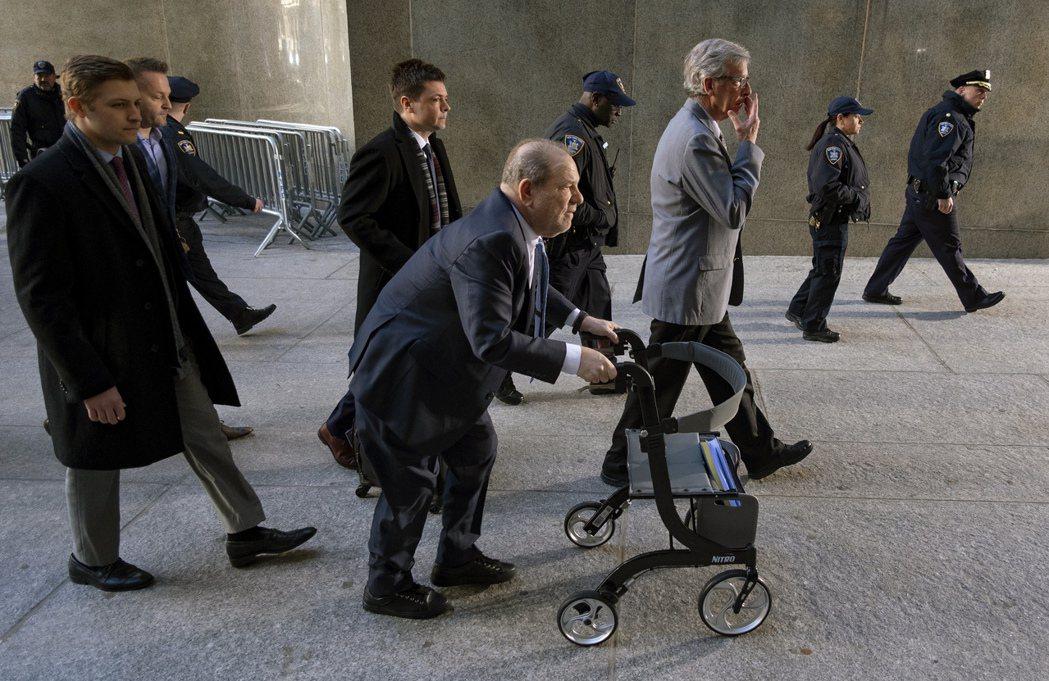 2020年1月,溫斯坦出席紐約地方法院。 圖/美聯社
