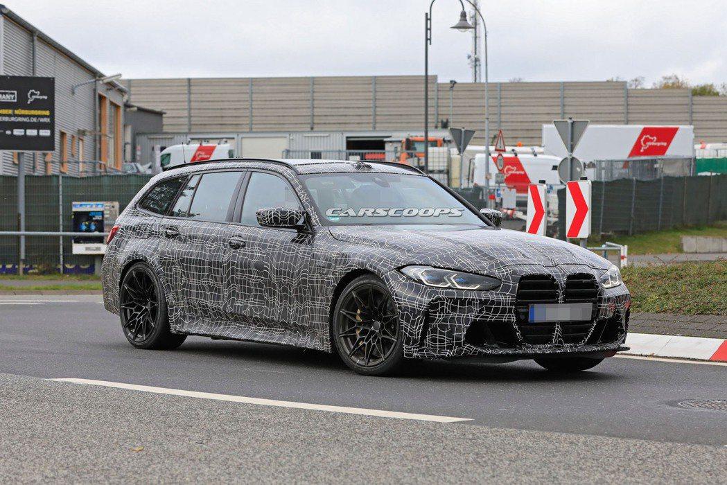 BMW M3 Touring性能旅行車現正測試中。 摘自Carscoops