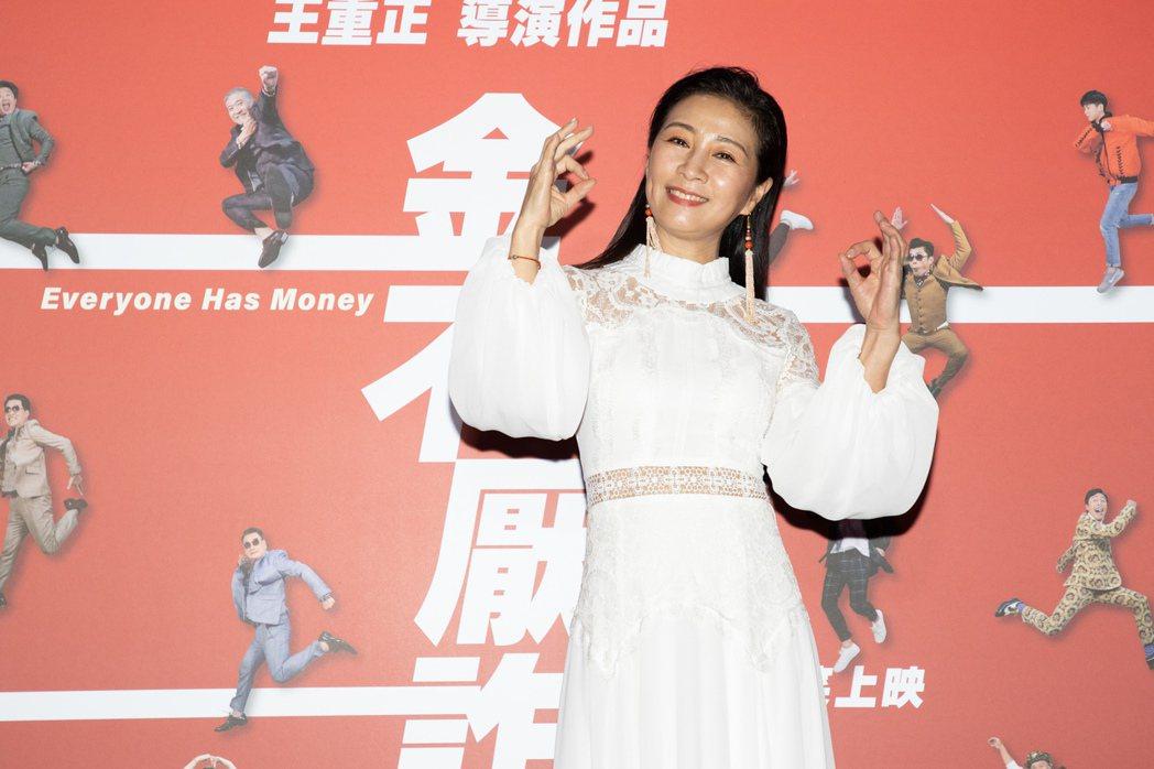 方文琳出席「金不厭詐」電影首映會暨記者會。記者季相儒/攝影