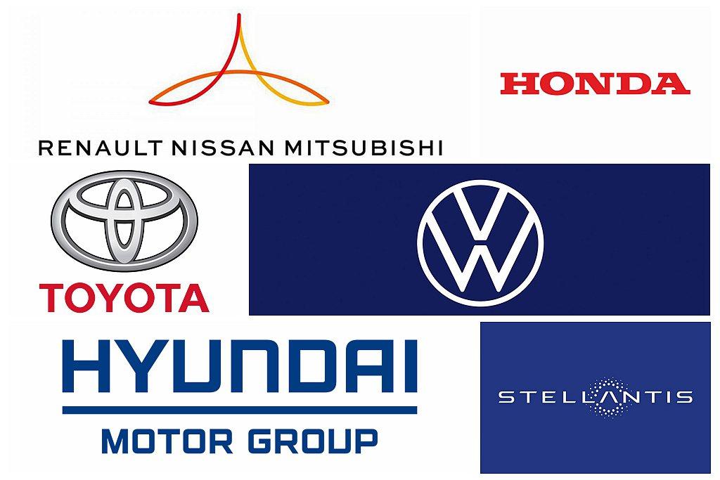 艱辛的2020年過去,全球各大汽車集團銷售也有所不同。 圖/各汽車集團網站擷取
