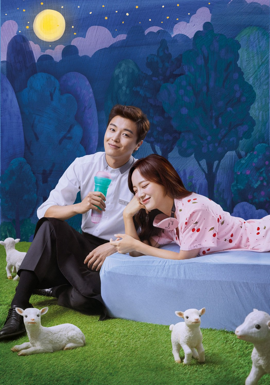 「聽見愛情」由延宇振(左)與金世正主演。圖/緯來戲劇台提供