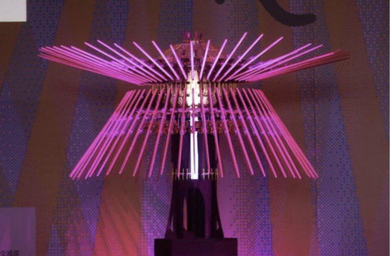 「2021台灣燈會」主燈「乘風逐光」。聯合報系資料照