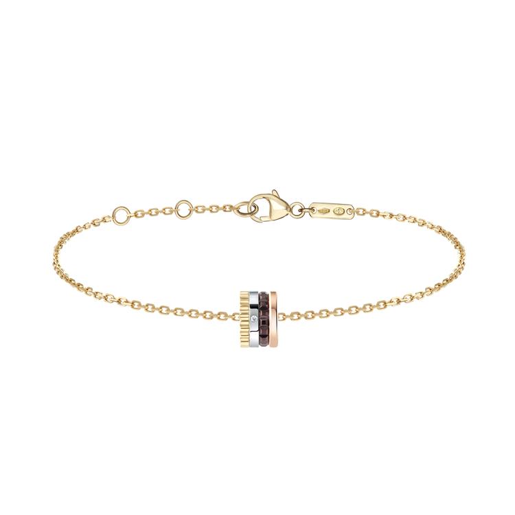 Boucheron新品Quatre Classique系列單鑽手環結合黃金、白金...