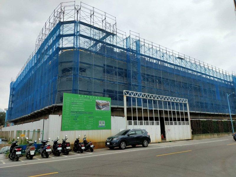 金山立體停車場10月完工。圖/新北交通局提供