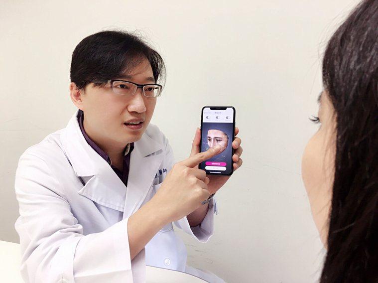 邱昱勳醫師說,每年的修修臉範本多以火紅的韓劇明星爲主。圖/邱昱勳提供