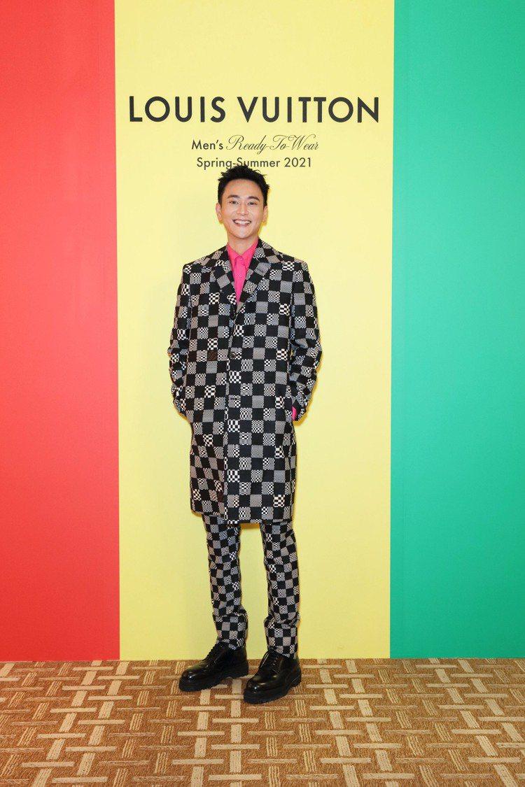 劉冠廷出席路易威登2021春夏男裝系列發表會。圖/LV提供 吳曉涵