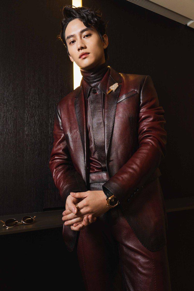 范少勳穿Berluti服裝出席第55屆金鐘獎。圖/Berluti提供 吳曉涵