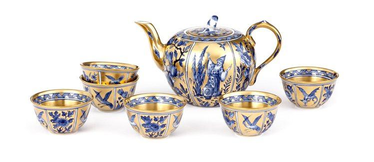 麥森「黃金時代」六人茶具組。圖/麥森提供 劉小川