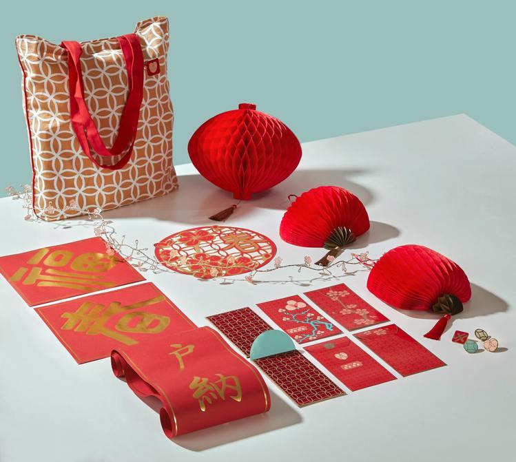 IKEA的SOLGLIMTAR新春系列,小預算打造出年味。圖/IKEA提供 劉小...