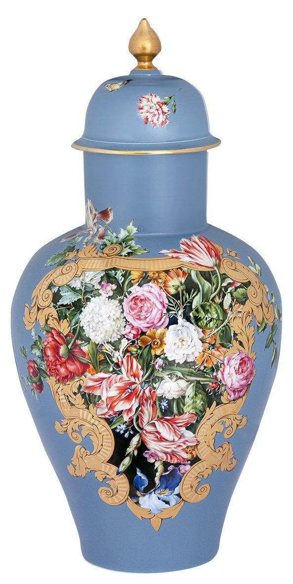 麥森「藍色真情」花瓶。圖/麥森提供 劉小川