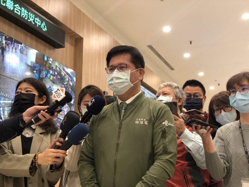 交通部長林佳龍。 聯合報資料照片 記者邱瓊玉/攝影