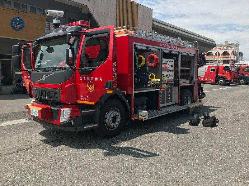 消防單位也有數字代號。圖/台東縣消防局提供
