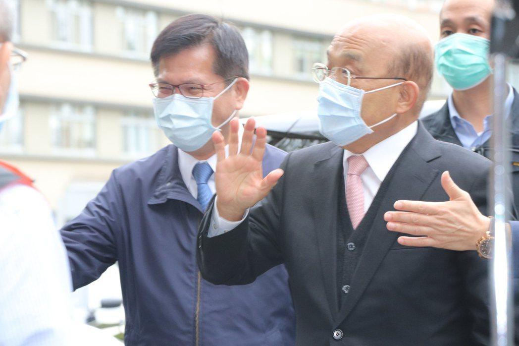交通部長林佳龍(左)。記者吳亮賢/攝影