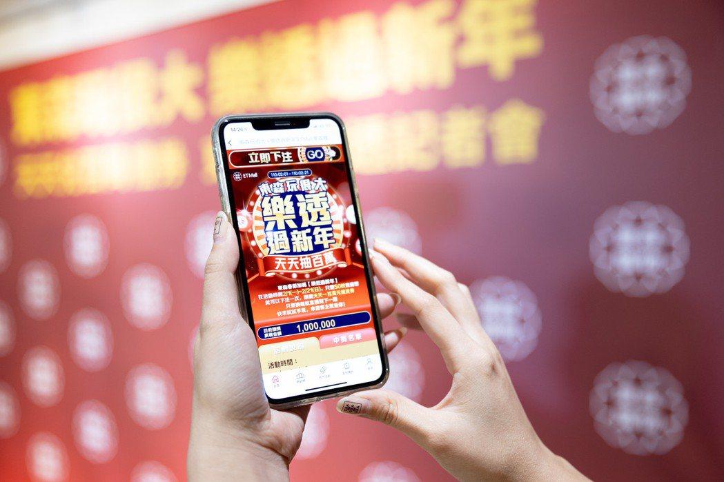 東森購物2月起推出「東森玩很大,樂透過新年」活動,民眾只要下載東森購物App註冊...