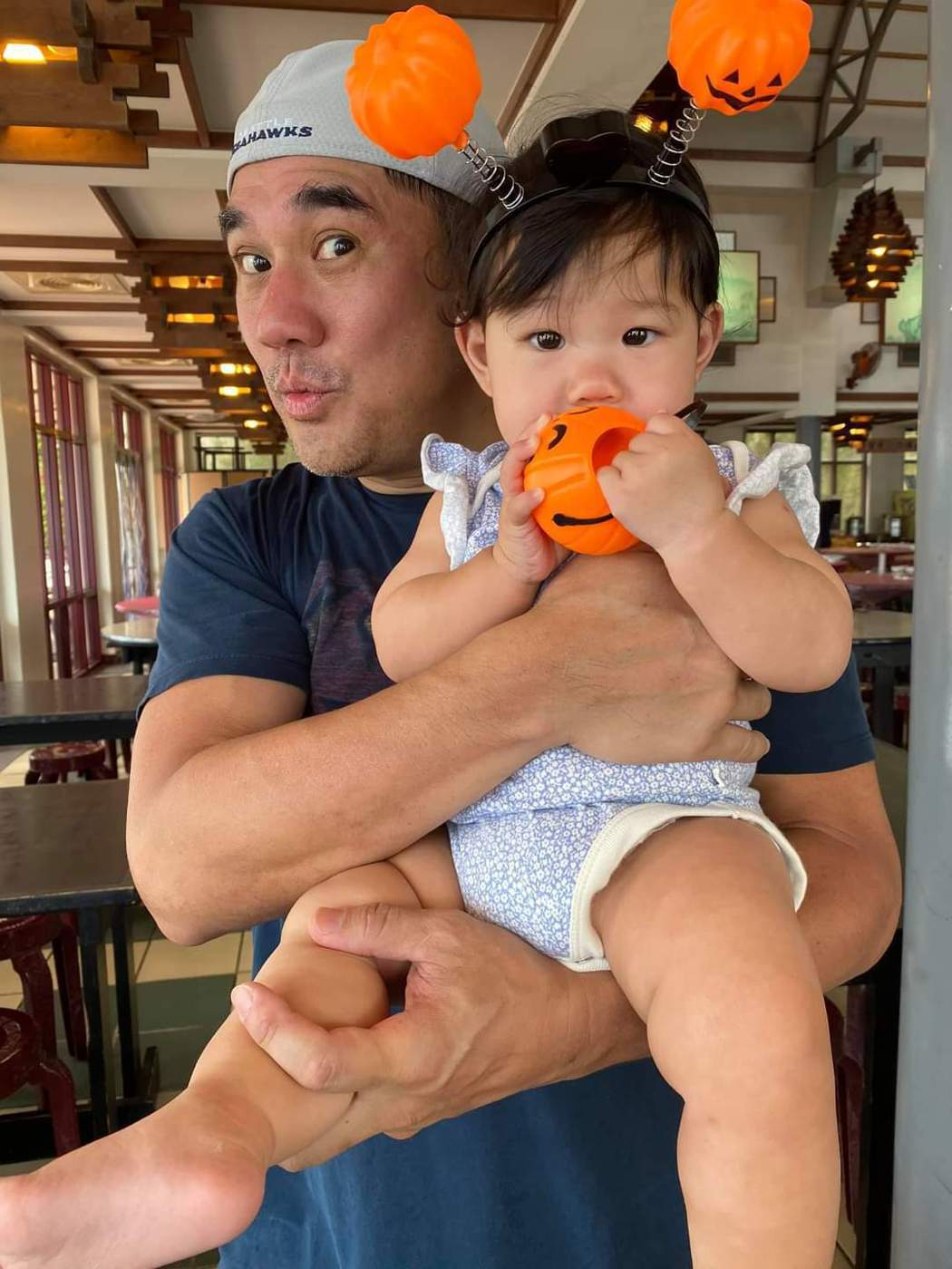 吳大維老來得女,對女兒十分寵愛。圖/摘自臉書