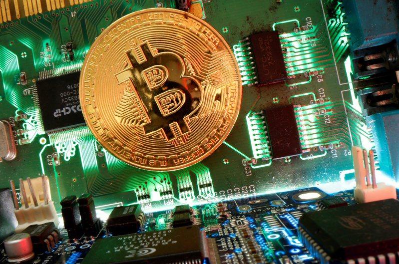 比特币12日盘中一度逼近49,000美元,再创新高。(路透)(photo:UDN)