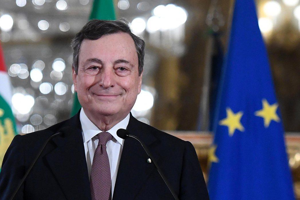 義大利總理德拉吉。 歐新社