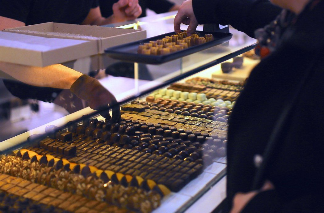 最新調查顯示,86%美國民眾會在情人節買巧克力。路透